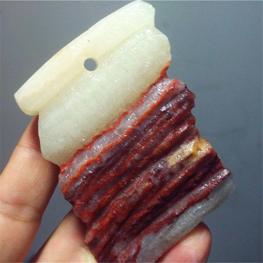 קוורץ קריסטל לבן אדום גדול משקל: 162 גרם