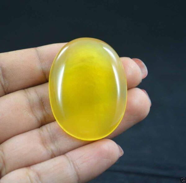 אבן חן: אוניקס צהוב מלוטש לשיבוץ (אפריקה) 84.50 קרט