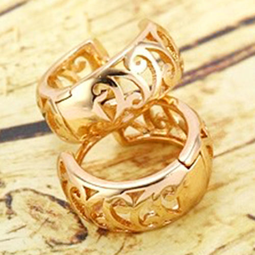 עגילי גולדפילד חישוק גוון זהב אדום
