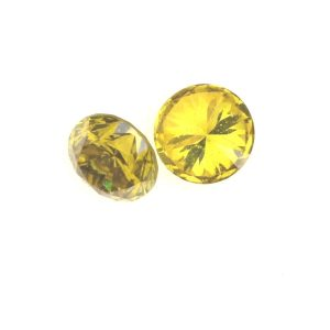 """יהלום צהוב מלוטש איכותי 0.05 קרט מידה: 2 מ""""מ"""