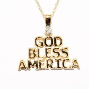 """תליון ושרשרת זהב בשיבוץ יהלום לבן אורך שרשרת 46 ס""""מ"""