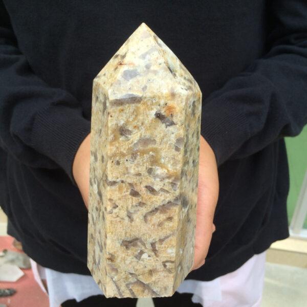 מוט מאבן לאופרד סקין גדול מהמם משקל: 830 גרם