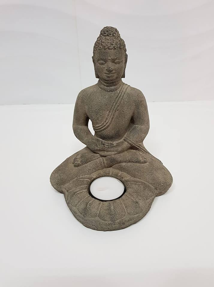 """פסל בודהה גדול מעמד לנר משקל: 1.228 ק""""ג"""