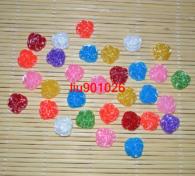 פרחים לעבודת יד להדבקה גוונים שונים 30 יחידות