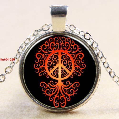 עץ החיים וסמל השלום תליון ושרשרת מוכסף
