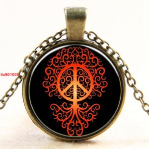 עץ החיים וסמל השלום תליון ושרשרת ברונזה