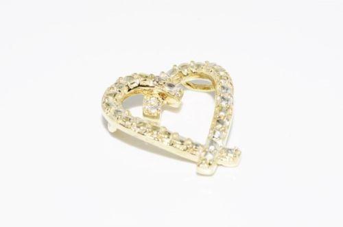 תליון לב זהב בשיבוץ יהלום