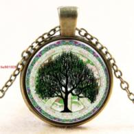 עץ החיים תליון ושרשרת ברונזה גווני ירוק
