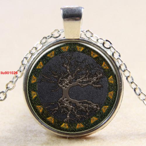 עץ החיים תליון ושרשרת מוכסף גווני חום שחור