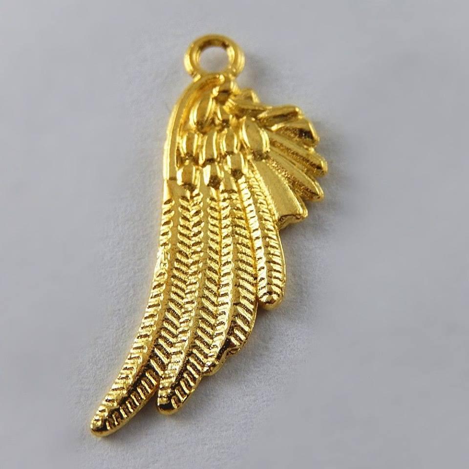 תליון כנף מלאך מוזהב
