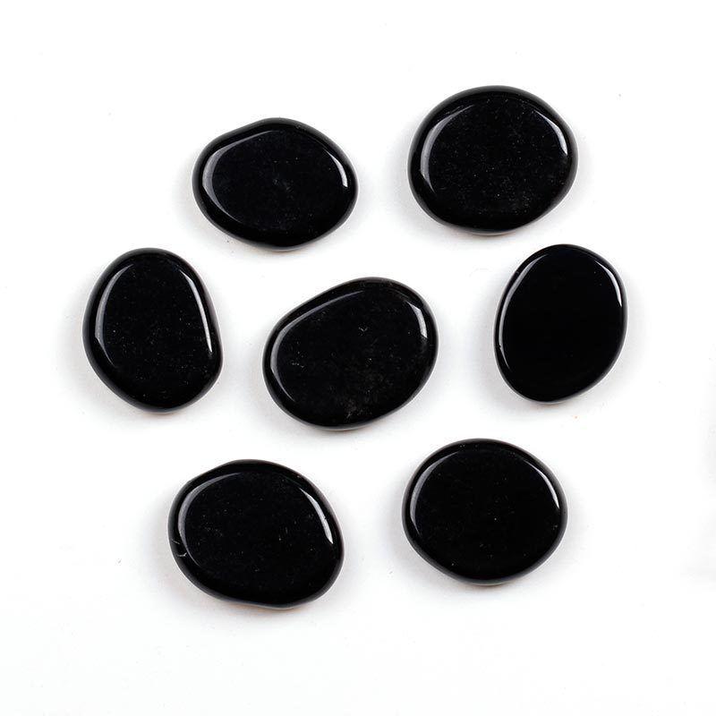 חלוק אובסידיאן שחור שטוח