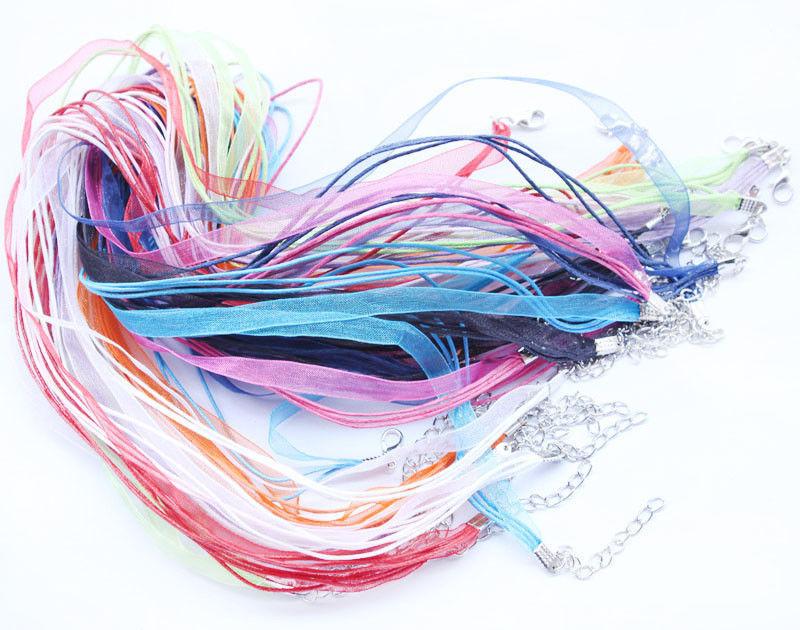10 סרטי קולר בצבעים שונים סוגר מוכסף