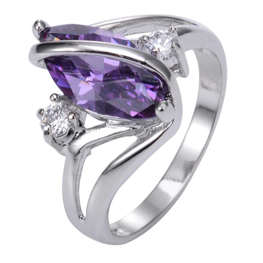 טבעת יוקרה כסף בשיבוץ אמטיסט מידה: 8