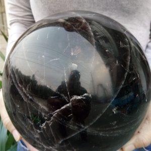 """כדור קוורץ שחור ענק לאספנים... קוטר: 180 מ""""מ"""
