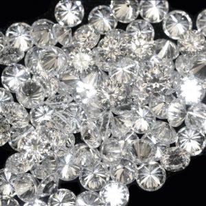 יהלום מלוטש עגול לשיבוץ 0.01 קרט
