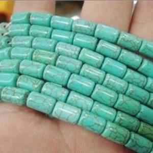 """תכשיטנות: שרשרת אבני טורקיז מידה: 4*6 מ""""מ"""