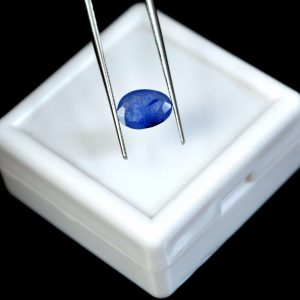 ספיר כחול מלוטש לשיבוץ - תעודה 1.50 קרט