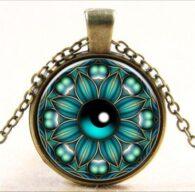 תליון ושרשרת ברונזה סמל עין - הגנה מעין הרע