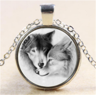 תליון ושרשרת ויקה מוכסף סמל זאב