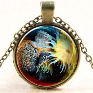 תליון ושרשרת ויקה ברונזה שונית אלמוגים (חיים בהרמוניה ושלמות)
