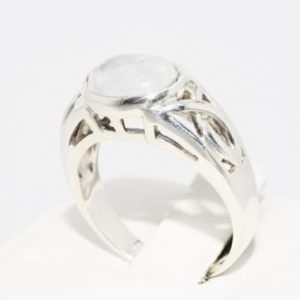 טבעת כסף 925 בשיבוץ מונסטון 4 קרט מידה: 8.25