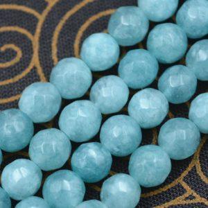 """תכשיטנות: שרשרת אקוומרין כחול ירוק מידה: 6 מ""""מ"""