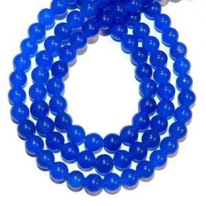 """תכשיטנות: שרשרת אבני אגט כחול מידה: 6 מ""""מ"""