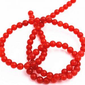 """תכשיטנות: שרשרת אגט אדום מידה: 4 מ""""מ"""