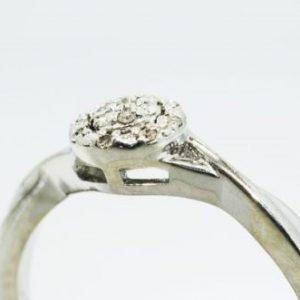 טבעת כסף 925 בשיבוץ יהלומים לבנים 08. קרט מידה: 7