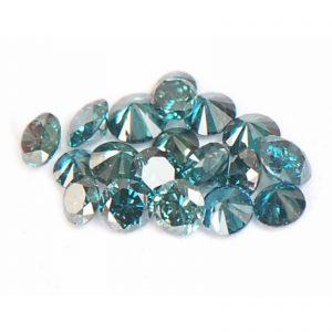 יהלומים כחולים עגולים מלוטשים 30.קרט בחבילה ניקיון: SI2-I2 כל יהלום: 1-2 נקודות