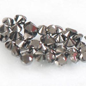 יהלומים שחורים מלוטשים 0.40 קרט בחבילה, 1-2 נקודות, דרום אפריקה, ליטוש מושלם