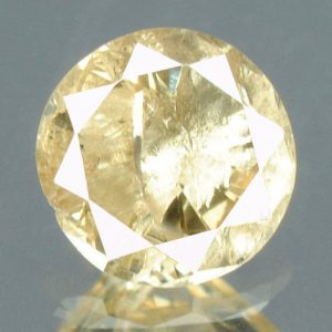 יהלום צהוב פנסי 0.19 קרט + תעודה ניקיון: I3