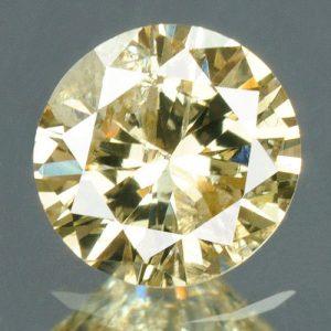 יהלום טבעי צהוב פנסי 0.21 קרט - תעודה ניקיון : I2