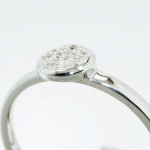 טבעת כסף 925 בשיבוץ יהלומים לבנים 11. קרט מידה: 7