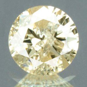 יהלום צהוב פנסי 0.21 קרט + תעודה ניקיון יהלום: I3