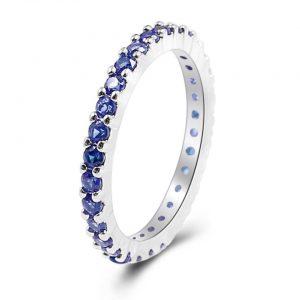 טבעת בשיבוץ ספיר כחול במידה: 8