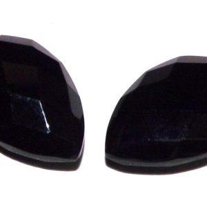 אוניקס שחור מלוטש לשיבוץ ליטוש רוז פסאט 4.85 קרט עיצוב טיפה