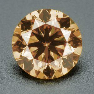 יהלום שמפניה אפריקה + תעודה משקל: 0.093 קרט ניקיון יהלום: SI1-SI2