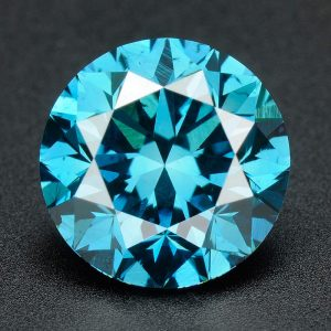 יהלום כחול עגול אפריקה + תעודה משקל: 0.043 קרט ניקיון: SI3-I1