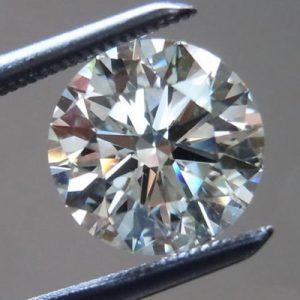 יהלום לבן עגול אפריקה + תעודה משקל: 0.52 קרט ניקיון: SI1-SI2