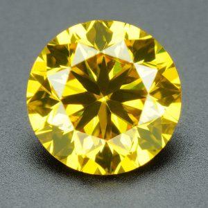 יהלום צהוב עגול אפריקה במשקל: 052. קרט ניקיון יהלום: VS1-VS2 תעודה