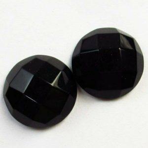 """אגט שחור מלוטש לשיבוץ ליטוש רוז פאסט עגול במידה: 11*28 מ""""מ"""