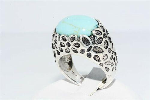 טבעת יוקרה כסף 925 בשיבוץ טורקיז משובח משקל: 7.60 קרט מידה: 7