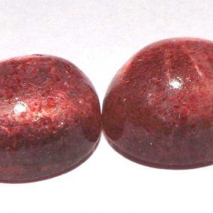 זוג קוורץ תות מלוטש לשיבוץ ליטוש קבושון (אפריקה) במשקל: 11.40 קרט
