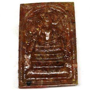 רובי (אפריקה) מפוסל בתבנית עיצוב בודהה במשקל: 56.54 קרט