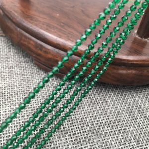 """תכשיטנות: שרשרת אוניקס ירוק מלוטש ליטוש פאסט במידה: 2 מ""""מ"""