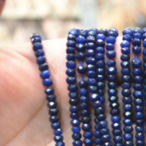 """תכשיטנות: שרשרת ספיר כחול כהה במידה: 2*4 מ""""מ"""