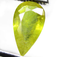 ספיר ירוק מלוטש לשיבוץ אפריקה ליטוש טיפה במשקל: 1.23 קרט