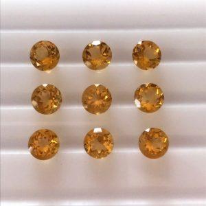 """9 יחידות סיטרין מלוטש לשיבוץ עגול ליטוש יהלום מידה: 3.5 מ""""מ"""