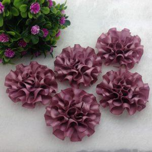 3 פרחים לקישוט אריזה - גוון סגלגל